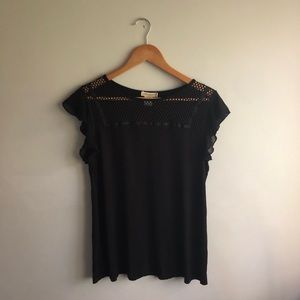 ANTHROPOLOGIE || Stone and Pebble T-shirt Blouse